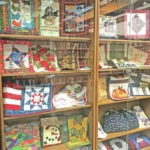 Local quilts on display at library