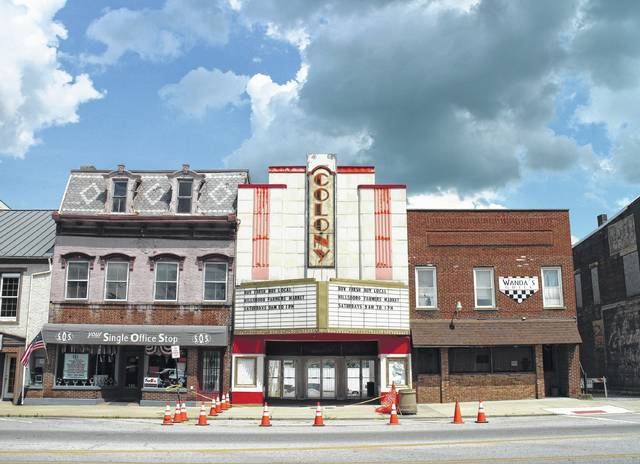 "The site of the Colony Theatre, center, in uptown Hillsboro may soon be an empty space ready for development, with either a new facade or a ""pocket park"" in its place."