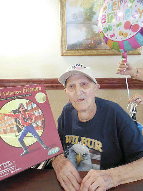 The Laurels of Hillsboro resident Wilber Penix is shown celebrating his 101st birthday at The Laurels. Penix was born July 15, 1916.