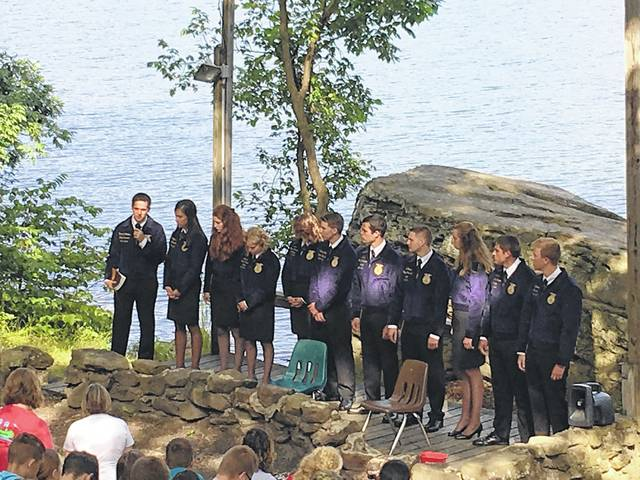 Members of the Hillsboro FFA chapter gather during a recent camp excursion.