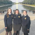 From left, Brittany Rhoads, Emily Pence and Pyper Ross enjoy the nation's capitol.