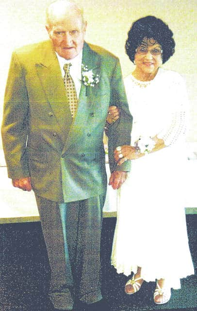 """William and Winona Storer celebrated their 60th anniversary June 25 at the Ponderosa Banquet Center. The couple was married June 22, 1957 by the late Rev. Paul Jones. A host of family and friends were at the party for the celebration. The Storers had two daughters, Tina, who passed away in 2012, and Melissa of Cincinnati. They also have a grandson, David Moon II, the son of Tina Storer. A wonderful time was had with nieces and nephews the Storers had not seen in many years. Winona is the youngest daughter of the late Charlie and Bertha Greene of Hillsboro and William is the son of the late Everett and Letha Storer of Hillsboro. The couple are lifelong residents of Highland County and plan to spend the rest of their lives here. High school sweethearts, they have seen many changes in the community. The schools they attended are gone and officials have come and gone. The Storers said they look forward to spending time watching all the changes being made by """"wonderful"""" Mayor Drew Hastings. """"It certainly looks different than many years ago. Our love for Hillsboro will always be in our hearts,"""" they said."""