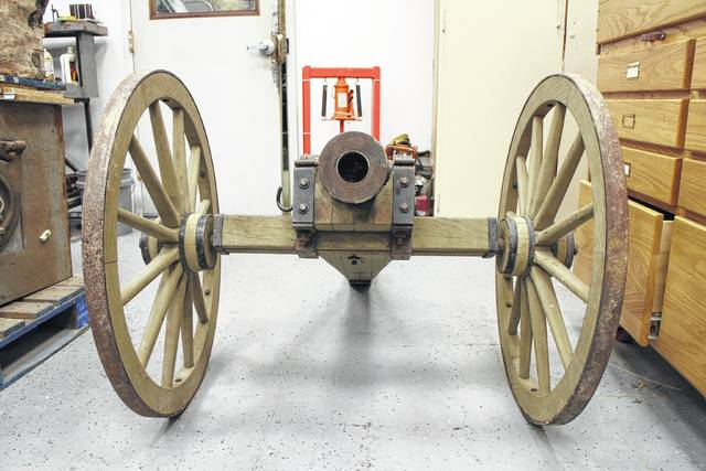 "Customers visiting Hillsboro Armory and Manufacturing may find themselves staring down the business end of this North Carolina cannon - but, according to business owner Jeremiah Ogden, it's ""just for giggles."""