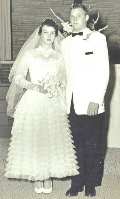 On Thursday, Aug. 3rd Dick and Jo Zink will celebrate their 60th wedding anniversary. Dick and Jo were married on Aug. 3, 1957 at the Dayton Church of Christ. Over the past 60 years Dick and Jo have spent their lives in Hillsboro, investing themselves in the community and their family. They are parents to Andrea (John) Holt of Hillsboro and Steve (Katy) Zink of Washington Court House. They also have eight grandchildren and four great-grandchildren. Their family loves them and appreciates all they have done for them.