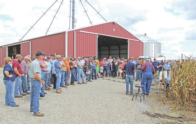 Part of the group that attended the fourth annual Highland County Farm Tour on Sept. 16 is shown.