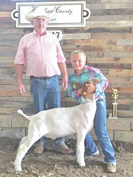 Sophia Michael was the 8-year-old goat showmanship class winner and Junior Division champion at the Highland County Fair.