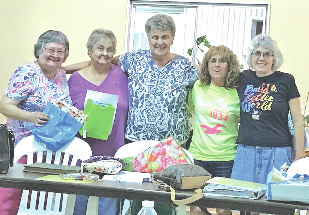 New officers pictured for Hillsboro Garden Club and the coming 2017-19 year term are, from left, returning treasurer Ruth Anna Duff, returning Region 16 Highland County chair representative Nancy Sonner, returning president Nancy Baldwin, newly serving vice president Shelly Rayburn, and newly serving secretary/reporter Jennifer West. The club will be meeting at the Katherine Zane Granger Floral Hall on the Highland County Fairgrounds at 7 p.m. Oct. 24. New members are welcome and the program will feature Francis Larkin speaking about spices. The New World was discovered searching for the flavors that satisfy. The club is interested in each other and helping the love of flowers and community be enriched.