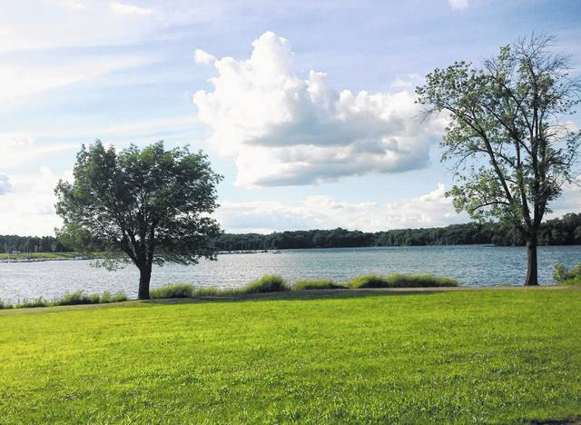 A grant of more than $840,000 to improve the Rocky Fork Lake region is on hold while county officials address issues raised by federal contacts.