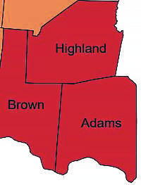 Highland, Adams and Brown counties are grouped in SW District 6 to share a medical marijuana dispensary license.