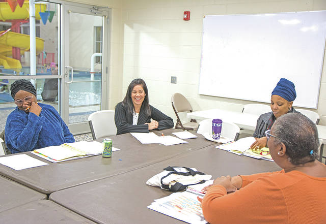 Carrie Martin, the Greater Cincinnati YMCA program coordinator, provided this picture of a discussion group meeting at an area YMCA.