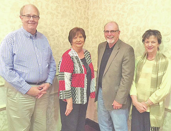 Officers for 2018 are pictured with AAA7 Executive Director Pamela K. Matura (far right) including, from left, Gary Fenderbosch of Gallia County serving as secretary/treasurer, Patricia Pletcher of Jackson County serving as vice president, and Rick Marriott of Ross County serving as president.