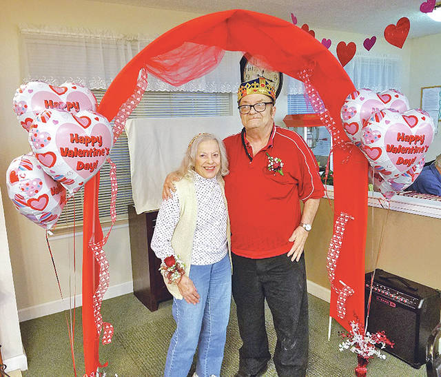 A Valentine's dinner was held at Bell Gardens Place on Feb. 13. Residents and guests enjoyed a ribeye steak dinner and music by Rockin Ron DJ service. Al Denniger and Kitty Hennsigen (pictured) were named king and queen of the event. More than 80 people attended the event and had a great time.