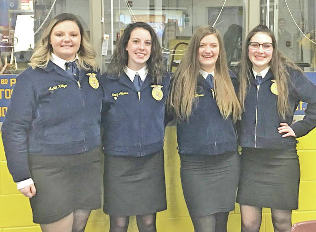 On Feb. 12, five members of the Hillsboro FFA competed at the subdistrict public speaking career development event. The members were Ryan Harless, Ashlie Hillyar, Zinny Adams, Loraleigh Mahan and Alora Brown. Harless and Hillyar competed in the subdistrict extemporaneous competition in which members are given a topic and allotted 30 minutes to prepare a speech to present to a panel of judges. Adams competed in the Creed competition in which members present the FFA Creed that outlines the basic beliefs of FFA members. She placed fourth at subdistricts and participated in the district competition. Mahan presented her speech on Genetically Modified Organisms (GMOs). She participated in the subdistrict and district competitions and qualified for the state competition. Brown placed first at subdistricts with her speech on the importance of animal welfare. She also competed at the district level.