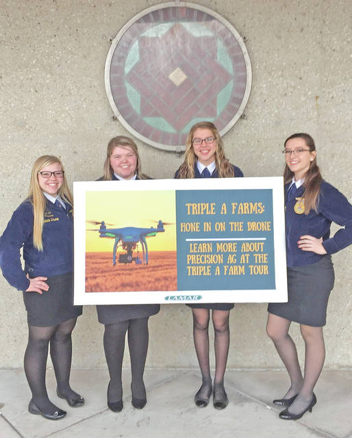 On Feb. 10, members Morgan Faulconer, Bryn Karnes, Emily Jones and Abby Dhume competed in the Agriculture Communications competition. The team had to develop a news release, write a news story, write an op-ed, a letter to the editor, take a quiz, and edit, develop and present a media plan. The team placed third in the state. Individually, Faulconer placed 10th, Karnes placed 18th, Jones placed 20th and Dhume placed 25th in the state.