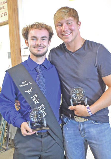 March 4-10 in Ohio 4-H Week. Cole Newsome and Wyatt (last name not provided) were the Highland County Outstanding Junior Leaders for 2017.