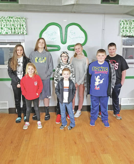 Members of the Simply Pygmies Plus 4-H Club are pictured (front row, l-r) Brianna Foxx, Jayden Foxx and Landen Springer; (back row, l-r) Lizzy Pierce, Aubry, Hunter Henderson, Hannah Henderson and Hunter Springer.