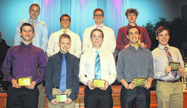 Avery Voss of McClain was named to the boys swimming FAC First Team at the inaugural Frontier Athletic Conference Winter sports banquet held at Grace Community Church in Washington Court House.