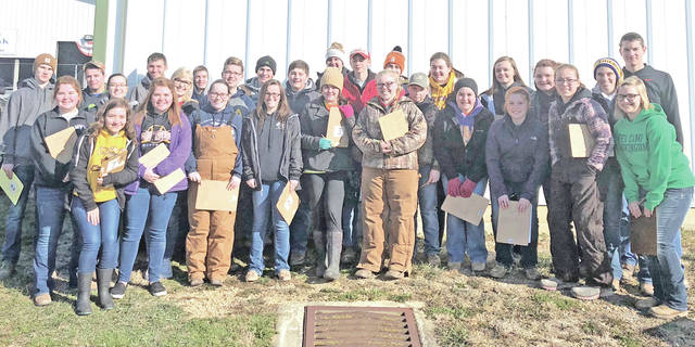 On March 10, 28 members of the McClain FFF Chapter attended the Miami Trace Invitational. The livestock team placed second overall. Members included Ethan Cockerill, Garrett Brewer, Kelli Uhrig, Bryn Karnes, Emily Jones, Destiny Trefz, Abby Dhume, Eric Anderson, Josie Crabtree, Caleb Cook, Noah Reeves, Heidi Rolfe, Brooke Kline, Natalie Rolfe, Haley Hinkle, Owen Kline, Kaeli Anderson and Ella Osborne. The poultry team placed sixth overall. The team consisted of Taylor Harper, Mallory Faulconer, Kenzie Hester, Maysun Faulconer, Alex Snyder and Carter Campbell. The equine team placed 10th overall and the team was made up of Cheyanne Watson, Kaitlin Kellis, Teagan White and Ethan Taylor.