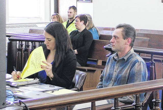 Steven Ray Culbreth, right, sits in court during a Thursday jury trial with defense attorney Lara Baron.