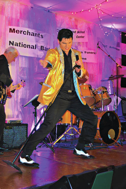 The Highland County Senior Citizens Center sold 209 tickets for its show Saturday featuring Elvis Presley impersonator Tyler Christopher and the Elvis Tribute Band. The event raised $3,912 for the center thanks to Merchants National Bank, the event's main sponsor, and co-sponsors Crestwood Skilled Nursing, East Ambulance, Littleton Respiratory Care, Weastec, Adena Health System, Hearth & Care and the Thompson Funeral Homes.