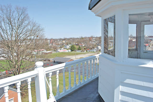 This photo was taken Thursday afternoon from the widow's walk atop the Scott House in Hillsboro.