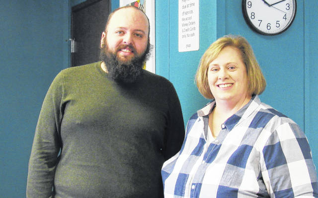 Groups Substance Abuse Counselor Anthony Galyon, left, and office coordinator Lisa Tilton staff the Greenfield Groups treatment location on Seventh Street.