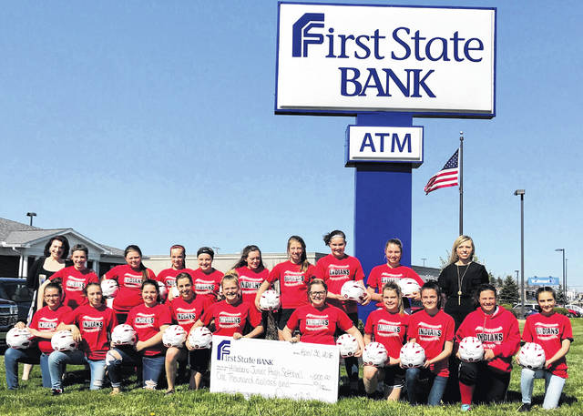 "The First State Bank team is pleased to announce the donation of $1,000 to the Hillsboro 7th & 8th grade Girls Softball team. The funds were donated in March and were used to help purchase new helmets for the team. On April 30, the entire team came to First State Bank for the official check presentation photo. The check was presented by Diana Grooms, Manager of the Hillsboro Banking Center. ""As a locally owned and operated bank, we believe in supporting our community schools"", said Diana Grooms. ""We are a proud supporter of Hillsboro Athletics and we congratulate the girls on a great softball season,"" said Grooms."