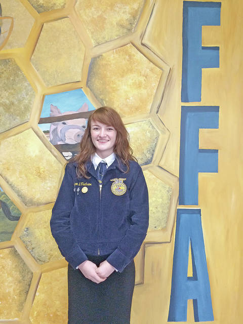 On April 27, Fairfield FFA member Teigan Thackston participated in the Ohio State Poultry Management CDE Finals where she judged carcasses and was tested on her overall knowledge of poultry. Thackston earned the title of first place individual.