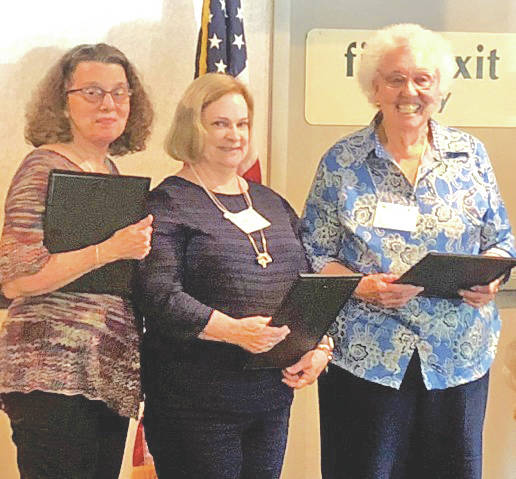 Awards were presented to Mary Smith of the Hillsboro Garden Club for amateur gardener, Babs Sabick of the Red Bud Garden Club for outstanding member, and the Osborn Historic Garden Club for outstanding club at the District 16 Regional meeting.