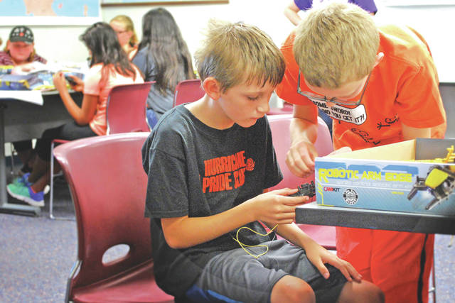 Students participate in a past STEAM Summer Camp and Southern State Community College.