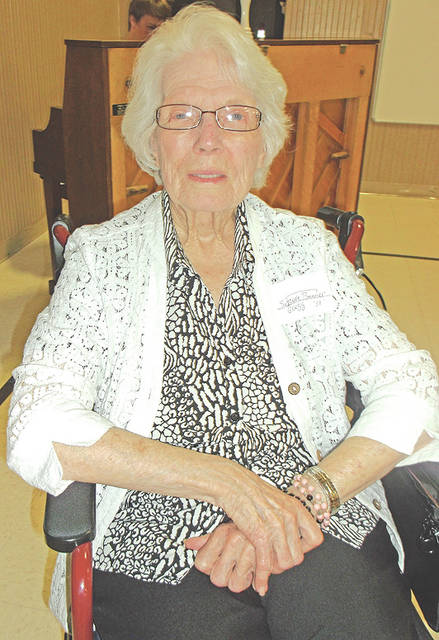 Representing the class of 1938 was Suzanne Benner Gregg, celebrating the 80th year.