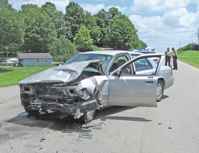 Two men were transported from the scene of this accident Thursday afternoon on U.S. Route 50 east of Hillsboro.