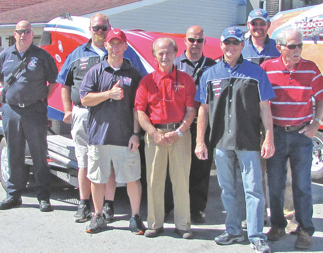 Organizers for Rumble in the Hills set for July 21-22 at Rocky Fork State Park include (front row, l-r) Keith Fickert, Joey McGuire, Mike McGuire and Ron Snyder; (back row, l-r) Chris Sexton, Greg Kneitzer, Kevin Kneitzer and Michael Glern.