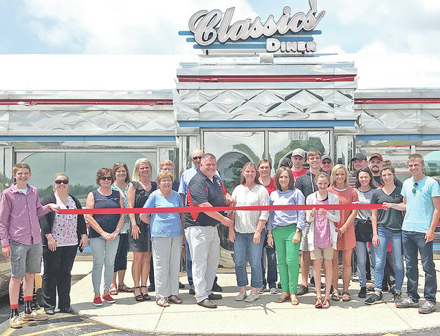 The Highland County Chamber of Commerce recently celebrated the joining of 62 Classics Diner with a ribbon-cutting ceremony. Offering a full menu of items, the diner features breakfast, home-cooked daily specials, cheeseburgers, milkshakes and a variety of homemade desserts. Customers can sit inside, on the patio at the '50s style diner, or pick up a meal to go. The diner also offers delivery to businesses. The diner is under new ownership and can be reached by calling 937-661-6113 or visiting it on Facebook. The business is open seven days a week from 7 a.m. to 3 p.m. Visit its Facebook page for other days of extended hours.
