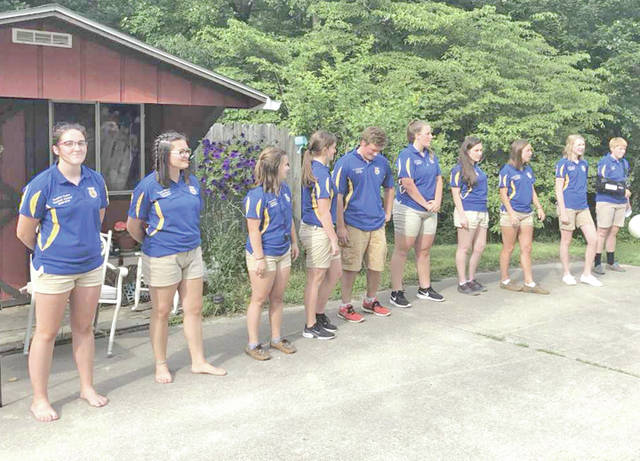 Hillsboro FFA Chapter members are pictured at the beginning of their summer meeting, from left, Heather Burba, Lexey Hetzel, Kirsten Harp, Alora Brown, Joe Helterbrand, Haley Hughes, Loraleigh Mayhan, Jordan Williamson, Larkyn Parry and Lana Grover.