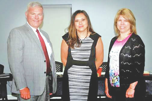 Michael P. Pell II, Tracy O'Hara and Rachel D. Cummings were recently sworn in as appointees to the Southern State Community College Board of Trustees.