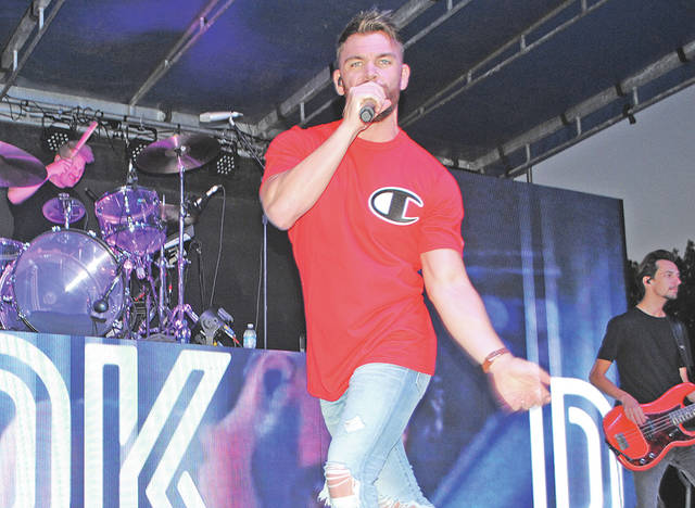 Country musician Dylan Scott performs Friday night at the 2018 Festival of the Bells.