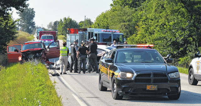 A New Vienna man lost his life Tuesday morning in this accident on SR 73 in Clinton County.