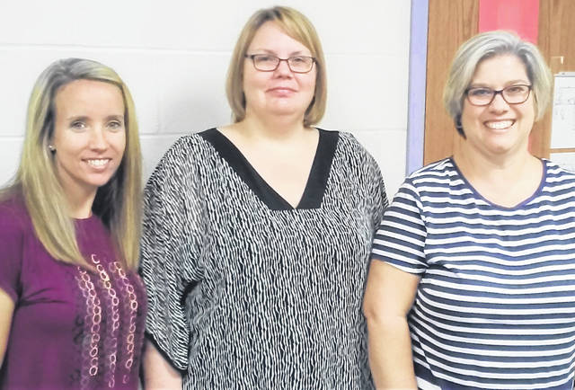 Pictured, from left, are Lynchburg-Clay Elementary School first grade teacher Heather Carraher, Principal Angela Godby and fourth grade teacher Kelly Woods.
