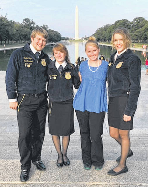 "Three members of the Fairfield FFA Chapter recently left for a once in a lifetime experience — the Washington Leadership Conference. During the days spent in the nation's capital the members got to tour the area and see all of the city's monuments and landmarks. They learned about the influential people who inspired the monuments and their impact on the country. The conference focused on giving back to their own communities and being an active citizen. The members including Teigan Thackston, Brayden Heizer and Bri Burleson created their own ""Living to Serve"" programs that they plan to bring back to make an impact on their hometown. The students attended workshops that focused on the motto ""Doing what we can with what we have, where we are."" The members described the conference trip as ""life changing and impactful."" They are encouraging their fellow members to attend the Washington Leadership Conference in the future."