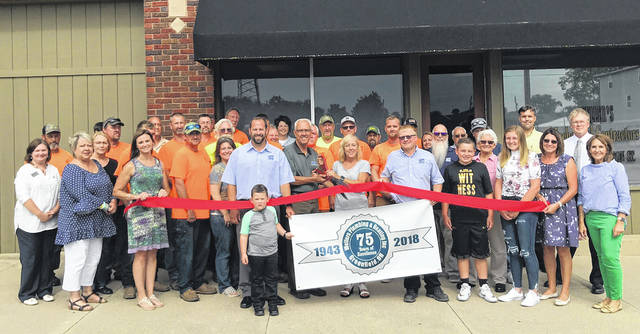 The Highland County Chamber of Commerce helped Weller's Plumbing & Heating in Greenfield celebrate its 75th anniversary with a ceremonial ribbon cutting in Greenfield on Thursday.