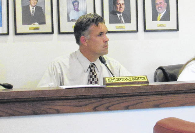 Greenfield City Manager Todd Wilkin is shown at a Greenfield Village Council meeting Tuesday.
