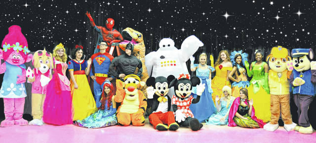 All 25 characters that will be at Highland County Senior Citizens Center for Cookies With Characters on Oct. 13 are shown in this picture.