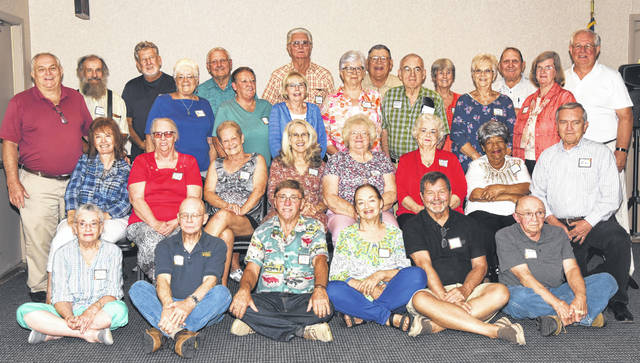 The Hillsboro High School class of 1963 recently held its 55-year reunion. Pictured are: (front row, l-r) Susan (Mays) Smith, Bill Bennett, Terry Cole, Marilyn Hiestand, Frank DeBold and James Walsh; (second row, l-r) Barbara (Tener) McCann, Sharron (Lloyd) Griffith, Jean (Shepard) Wilson, Cecalla (Cook) Dougan, Judy (Thompson) Hopkins, Karen (Glaze) O'Rourke, Teresa Williams and James Hamilton; (third row, l-r) Buck Wilkin, Marcia (Green) Morris, Judy Thornburgh, Joyce (Shelton) Cornellius, Pauline (Brown) Rand, Howard Graybill, Sandra (Yarger) Crum and Patricia (Channey) Young; (fourth row, l-r) David Ludwick, Gary Pitzer, Joe Stanforth, Nelson Dotson, Vickie (Davidson) Harris, David Purdin and Dale Burton.