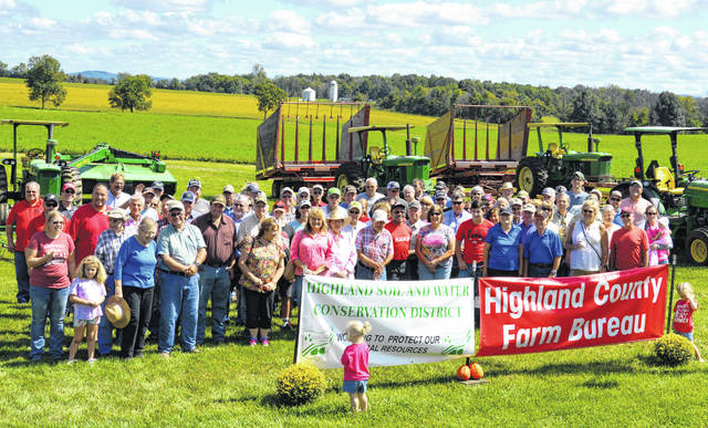Some of those who participated in the fifth annual Highland County Farm Tour are pictured.