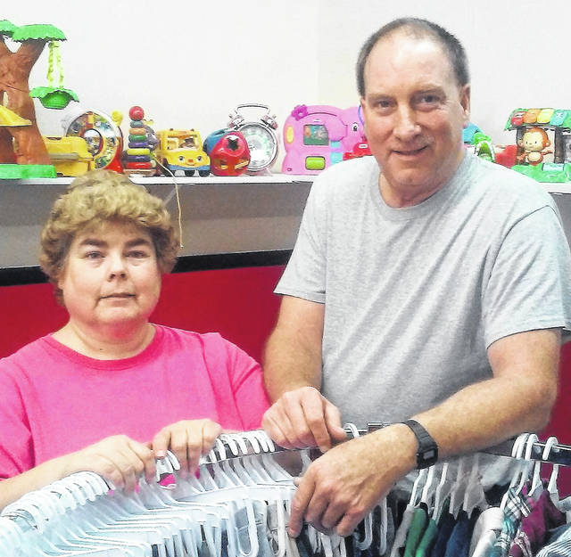 Tammy and Gary Wilson, owners of Kid's Country Barn in Hillsboro, prepare for their grand opening Oct. 5-6.