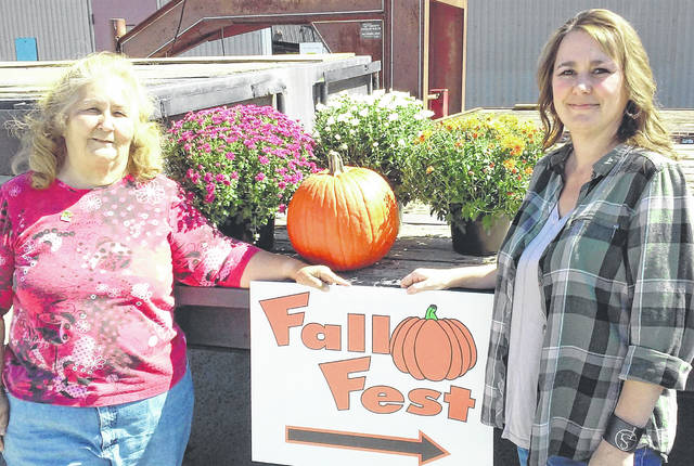 Incoming Leesburg Lions Club President Jay Newland and organizer Angel Greenlee are shown at the Leesburg Fall Fest.