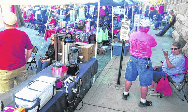 Shown in this photograph is a scene from last year's Taste of Highland County held in the center of Hillsboro.