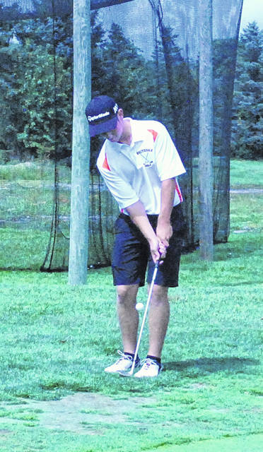 Zach Harless is pictured in this Times-Gazette file photo. Harless shot an 83 at Shawnee State Park on Wednesday to lead Whiteoak to a third place finish in the D III Sectional Golf Tournament.