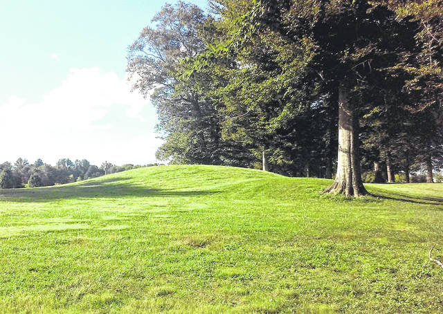 Some of the Fort Salem earthworks are shown as they appear today.